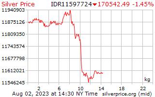 1 天銀價格每公斤在印尼盾