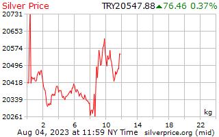 1 天銀價格每公斤在土耳其里拉