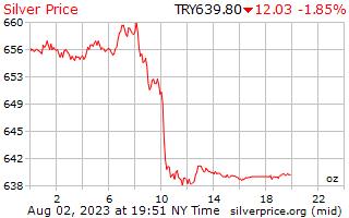 1 dag zilveren prijs per Ounce in Turkse Lira